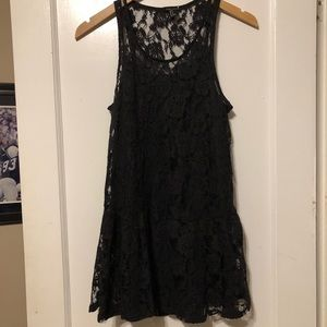 Forever 21 Black Lace Shift Dress